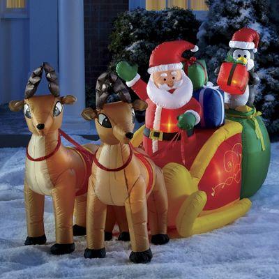 Inflatable Santa and Sleigh