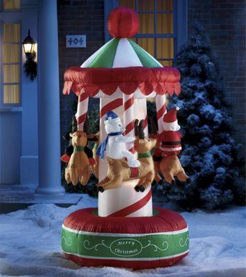 Inflatable Animated Reindeer Carousel