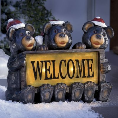 Santa Bears Solar Welcome Sign