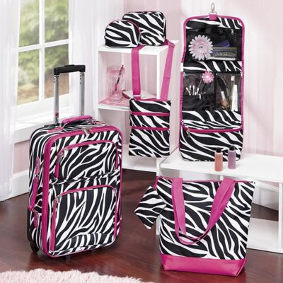 6-piece Zebra Luggage Set