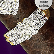 10k Gold Diamond Interlock Band