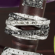 Black white Diamond Interlock Band