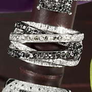 Black white Diamond Interlock Band