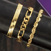 3 piece Chain Bracelet Set