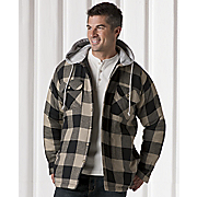 Fleece lined Hooded Shirt Jacket