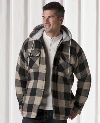 Fleece-lined Hooded Shirt Jacket
