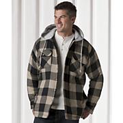 Fleece lined Hooded Shirt Jacket