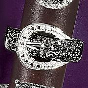 Black Diamond Buckle Ring