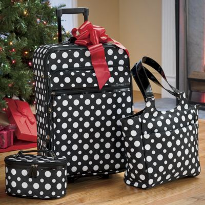 3-piece Polka Dot Travel Set