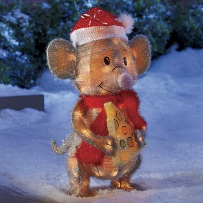Tinsel Holiday Mouse