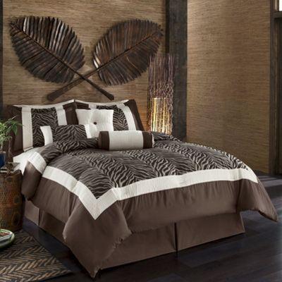 7-piece Zebra Bedding Set