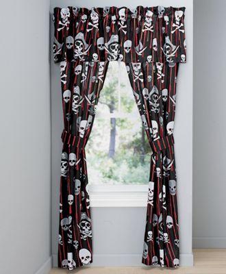 Skulls & Crossbones Window Treatments