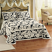 Floral Scroll Damask Bedding and Sham