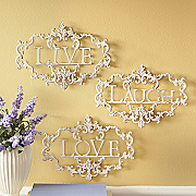 3 piece Live Laugh Love Wall Art 2014