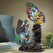 Stained Glass Butterflies Lamp