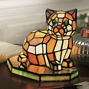 stained glass cat lamp 13