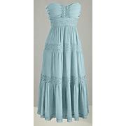Beryl Strapless Crochet trim Dress