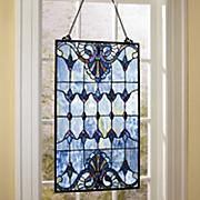 albastru stained glass window panel