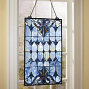 albastru stained glass window panel