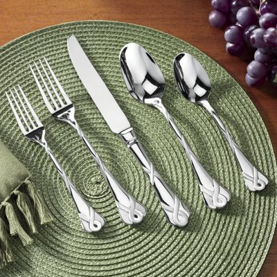 20-Piece Ribbon and Lace Frost Flatware Set