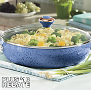 12 inch everything pan with 10 rebate by paula deen