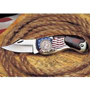 Silver Barber Quarter Knife