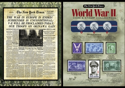 New York Times WWII Coin and Stamp Collection