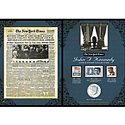 New York Times JFK Coin & Stamp Collection