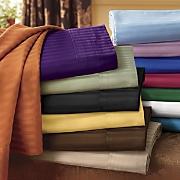 400 thread ct egyptian cotton damask stripe sheet set