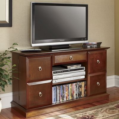 Mega-Storage Swinging Door TV Stand