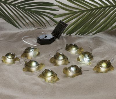 9-Piece Solar Turtle Light Set