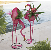 flamingo planter