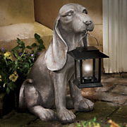 solar hound dog with lantern