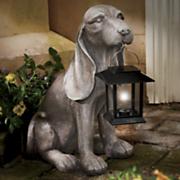solar hound dog with lantern