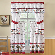 Rooster Parade Curtain Set