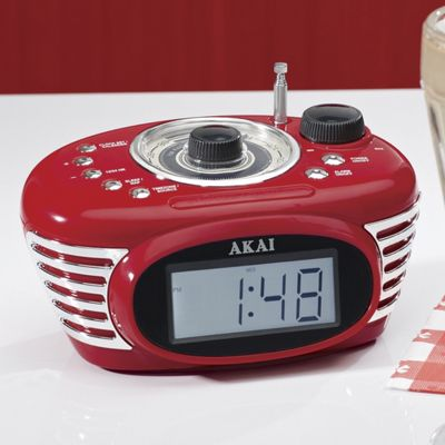 Retro Clock Radio and MP3 Player by Akai
