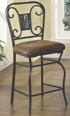 Set of 2 Scrolled Counter Height Chairs