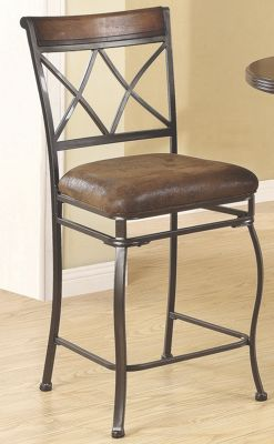 Set of 2 Double X Counter Height Chairs