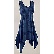 sleeveless hankie tunic