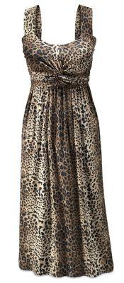 Leopard-Print Knotted Dress