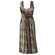 leopard print knotted dress