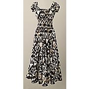 nina gold stamped dress