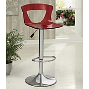 Red Acrylic Stool