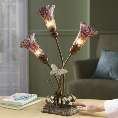 Twilight Blooms Touch Lamp