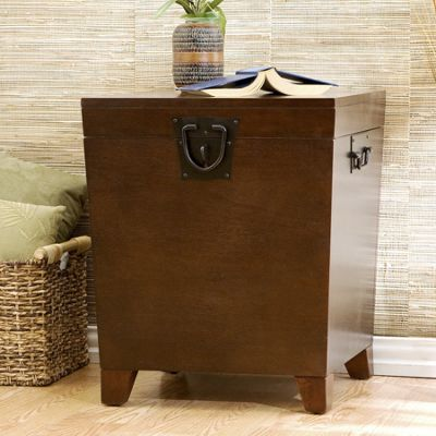Pyramid Trunk End Table