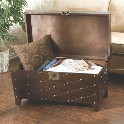 Nailhead Trunk Cocktail Table