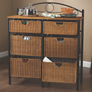 Iron wicker Storage Chest