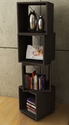 Four Rotating Cubes for Storage in Espresso