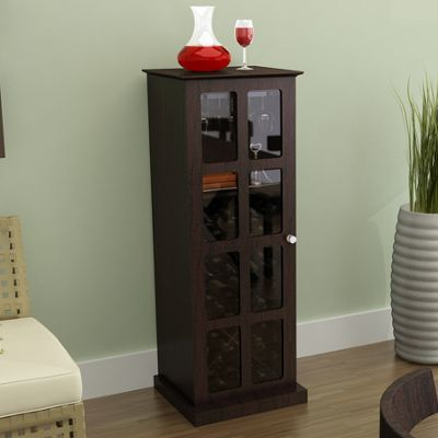 Windowpane 24 Bottle Wine Cabinet in Espresso
