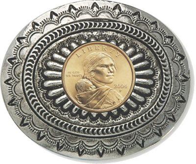 Sacagawea Golden Dollar Belt Buckle